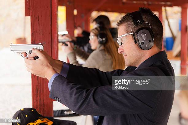 、射撃場での練習