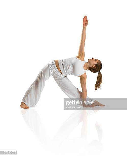 Practicing Yoga w/Clipping Path