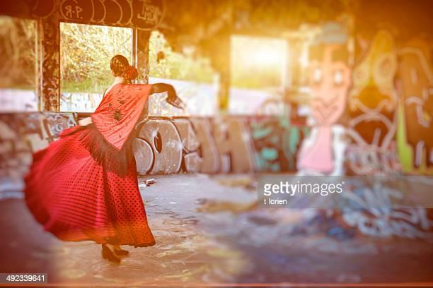 Practising Flamenco..