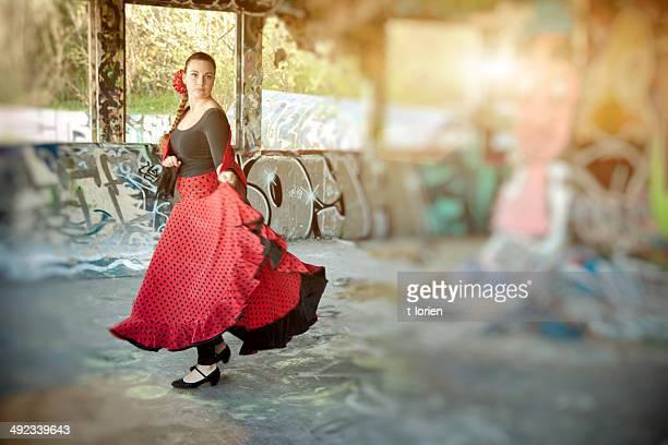 Practising Flamenco.