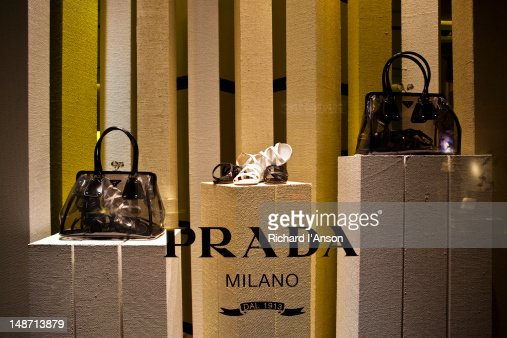 Prada shop window on Via della Spiga.