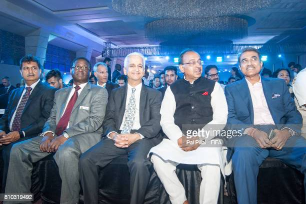 Praful Patel President AIFF Vijay Goel Sports Minister India Sunil Gulati FIFA Council member along with other dignitaries during FIFA U17 World Cup...
