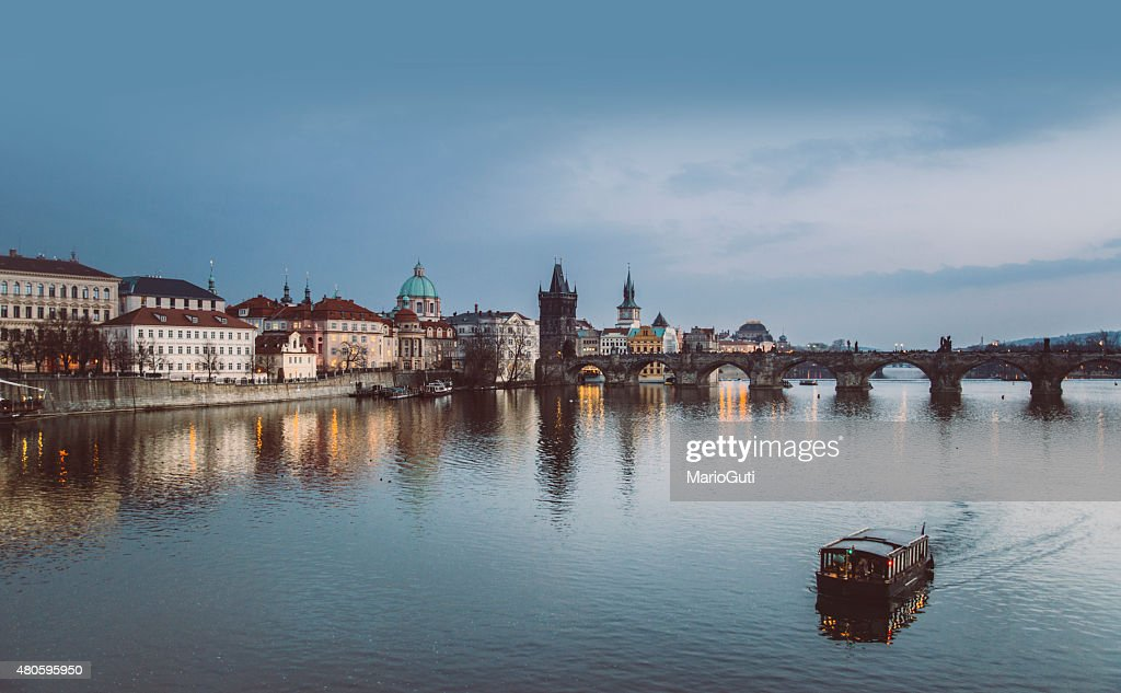 Prague and its reflection : Stock Photo