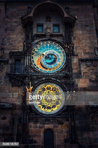 Prague Astronomical Clock : Stock Photo