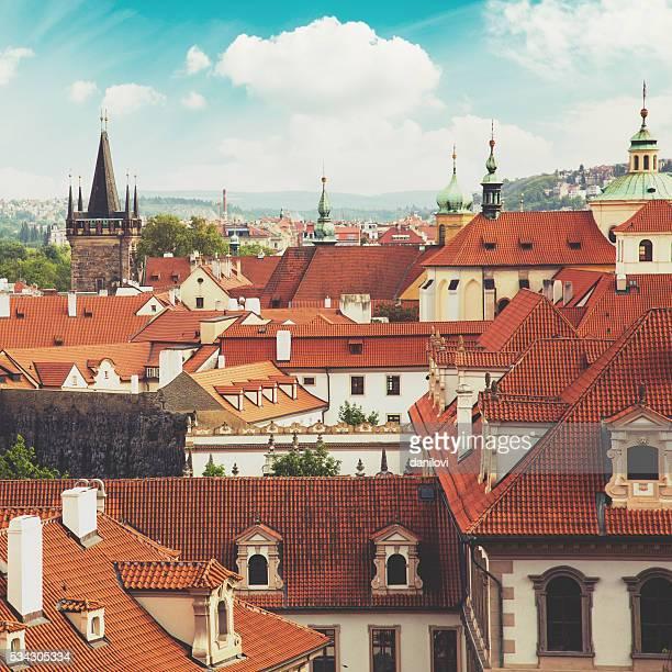 プラハ街の屋根