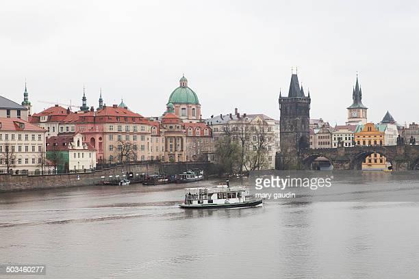 Prague old city with Charles Bridge