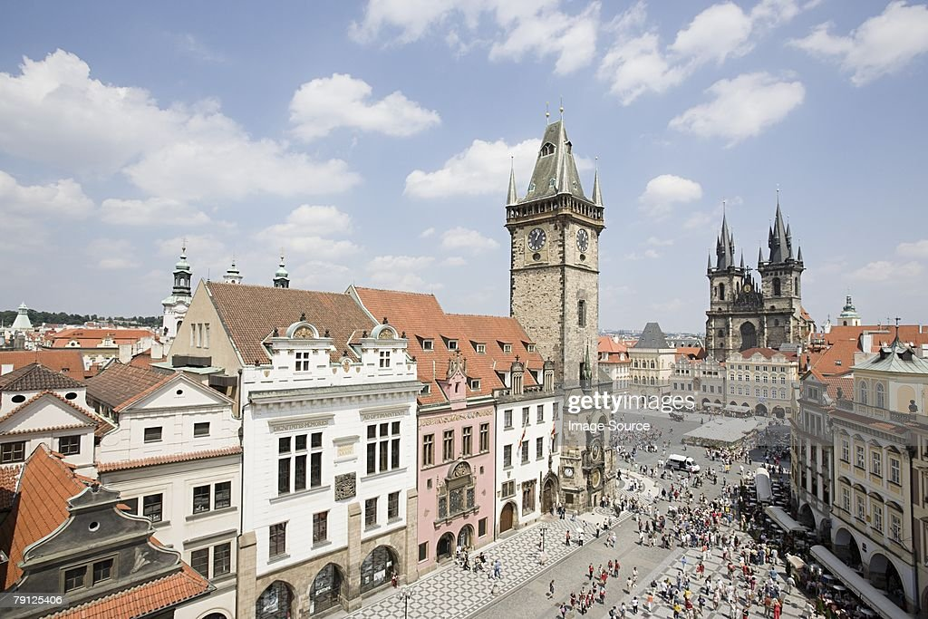 Prague old town square : Stock Photo