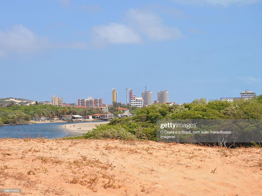 Praia da Sabiaguaba, em Fortaleza. : Foto de stock