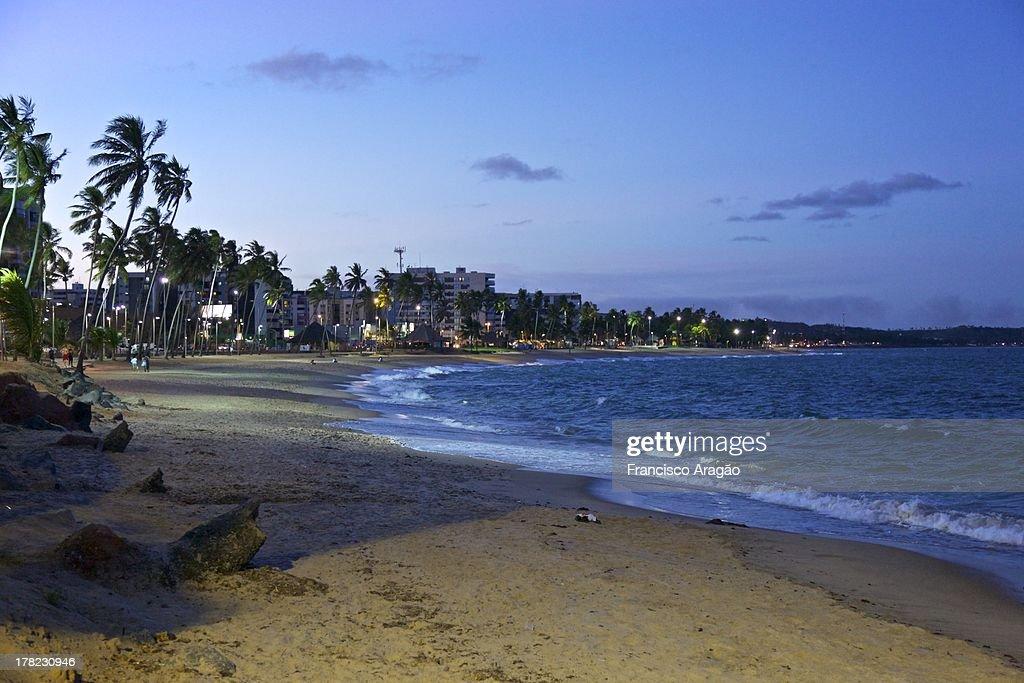 Praia de Jatiúca - Maceió, Alagoas : Foto de stock