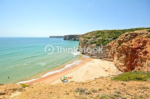 Praia do beliche spiaggia vicino a cabo san vicente algarve portogallo foto stock thinkstock - Cabo san vicente portugal ...