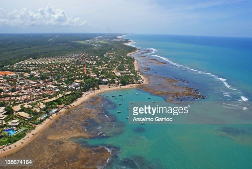 Praia do Forte - aerial photo : Stock Photo