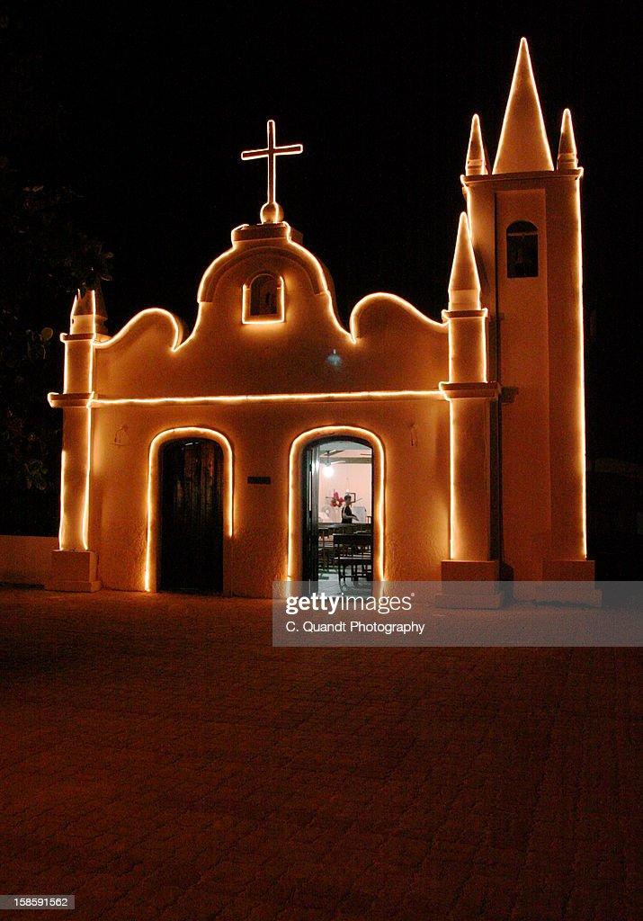 Praia do Forte church : Stock Photo