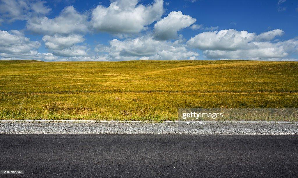 Prairie and road