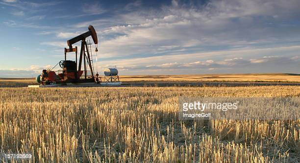 Prairie Pumpjack in Alberta Oil Industry