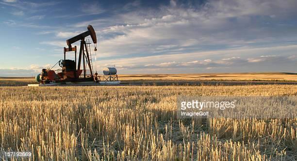 Prairie Pumpjack in Alberta Oil Industry