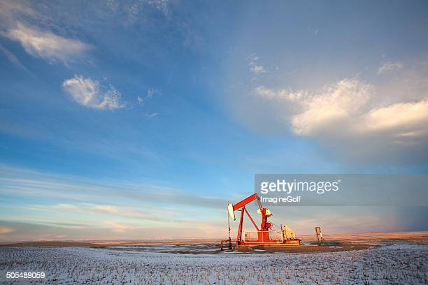 Prairie Pumpjack in Winter