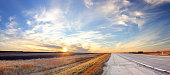 This image is taken on Canada's Highway One, just west of Winnipeg. An XXL panorama of many vertical exposures.