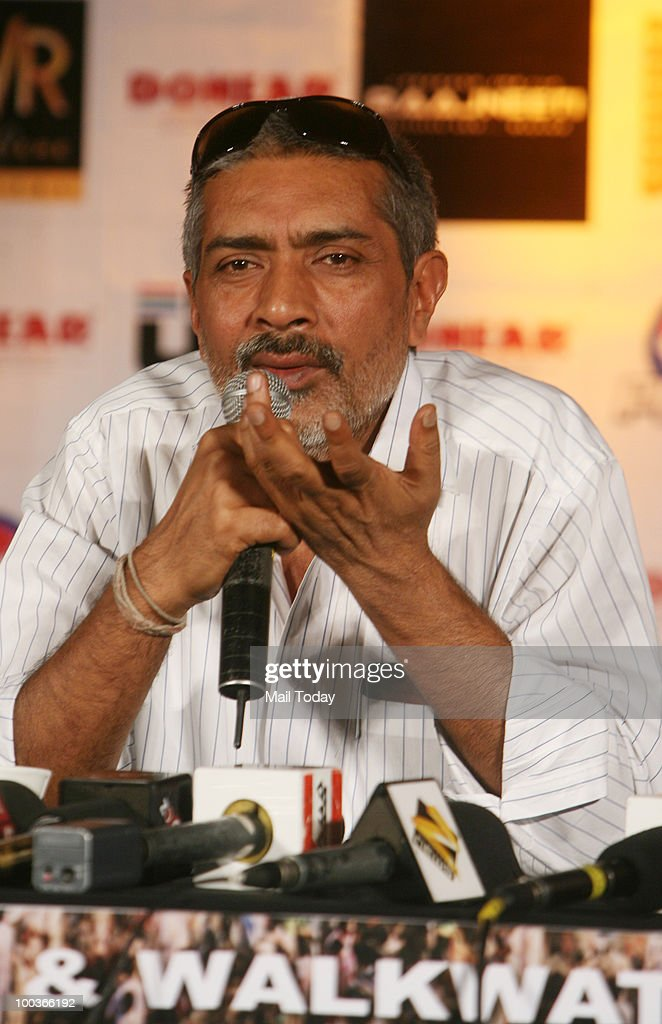 Prakash Jha at a promotional evnt for the film Rajneeti in New Delhi on May 20, 2010.