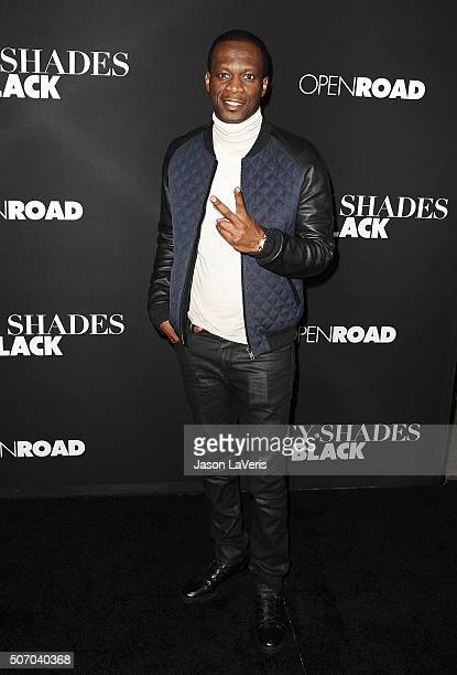 Pras attends the premiere of 'Fifty Shades of Black' at Regal Cinemas LA Live on January 26 2016 in Los Angeles California