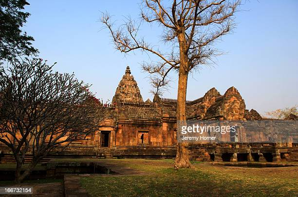 Prasat Phanom Rung is a Khmer temple complex set on the rim of an extinct volcano at 1320 feet above sea level in Buriram province in the Isan region...