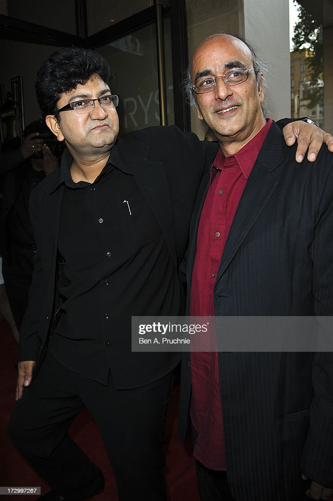 Prasoon Joshi and Art Malik attend the gala screening of 'Bhaag Milkha Bhaag' at The Mayfair Hotel on July 5, 2013 in London, England.