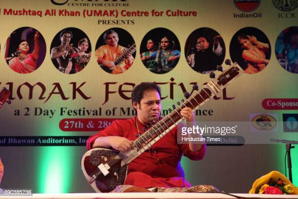 Prateek Chaudhari performs during the UMAK festival at Indian Council for Cultural Relations on May 27 2017 in New Delhi India The dance performance...