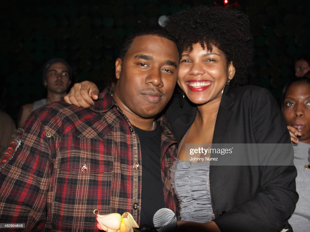 KP Prather and Adesina Dowers attend Adesina Dowers' birthday party at Greenhouse on March 29 2010 in New York City