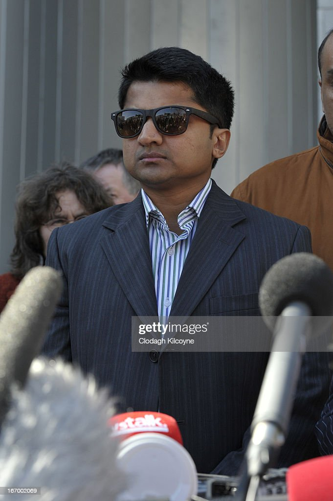 Praveen Halappanavar, husband of Savita Halappanavar looks on outside Galway City Hall, after the jury in the Savita Halappanavar inquest returned a unanimous verdict of death by medical misadventure against the HSE (Health Services Executive) on April 19, 2013 in Galway, Ireland. The jury heard that Mrs Halappanavar would probably still be alive today if the law had allowed an abortion. Savita Halappanavar was 17 weeks pregnant when admitted to University Hospital Galway on October 21, 2012, with an inevitable miscarriage. The 31 year old died a week later in intensive care from multi-organ failure from septic shock and E.coli, four days after she delivered a dead foetus.