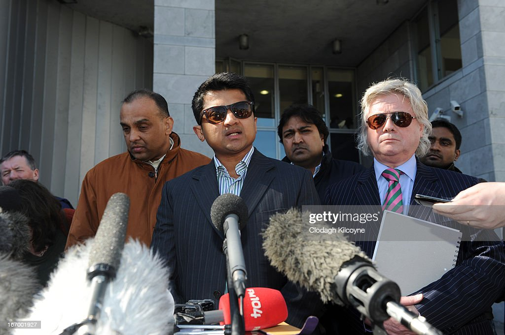 Praveen Halappanavar, husband of Savita Halappanavar speaks outside Galway City Hall, as the jury in the Savita Halappanavar inquest returned a unanimous verdict of death by medical misadventure against the HSE (Health Services Executive) on April 19, 2013 in Galway, Ireland. The jury heard that Mrs Halappanavar would probably still be alive today if the law had allowed an abortion. Savita Halappanavar was 17 weeks pregnant when admitted to University Hospital Galway on October 21, 2012, with an inevitable miscarriage. The 31 year old died a week later in intensive care from multi-organ failure from septic shock and E.coli, four days after she delivered a dead foetus.
