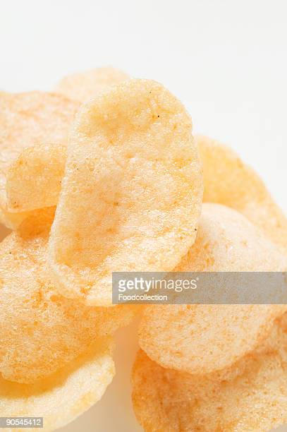 Prawn crackers, close up