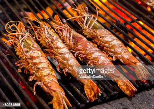 Crevette Grill, cuisine de fruits de mer. : Photo