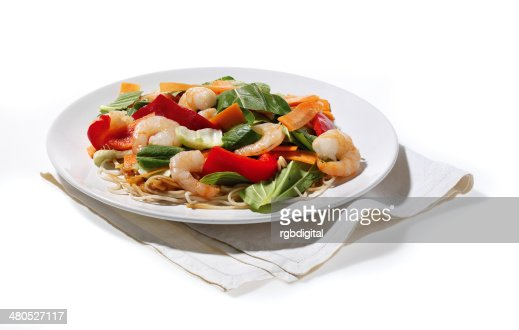 Prawn Noodles : Stock Photo
