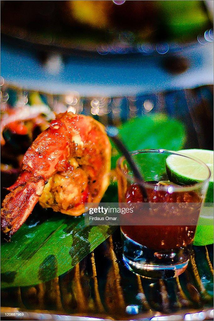 Prawn sambal : Stock Photo