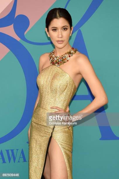 Praya Lundberg attends the 2017 CFDA Fashion Awards at Hammerstein Ballroom on June 5 2017 in New York City