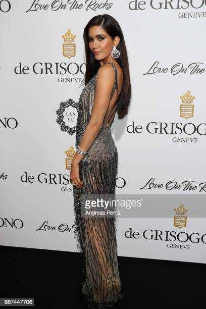 Praya Lundberg attends the DeGrisogono 'Love On The Rocks' during the 70th annual Cannes Film Festival at Hotel du CapEdenRoc on May 23 2017 in Cap...