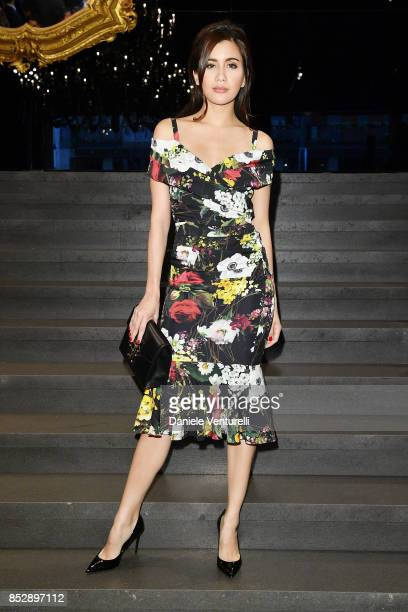 Praya Lundberg attends the Dolce Gabbana show during Milan Fashion Week Spring/Summer 2018 on September 24 2017 in Milan Italy
