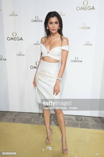 Praya Lundberg attends the 'Her Time' Omega Photocall as part of the Paris Fashion Week Womenswear Spring/Summer 2018 at on September 29 2017 in...