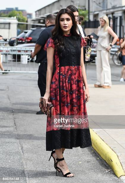 Praya Lundberg is seen outside the Coach show during New York Fashion Week Women's S/S 2018 on September 12 2017 in New York City
