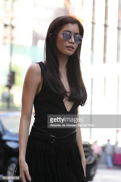 Praya Lundberg is sightings in New York City on September 8 2016 in New York City
