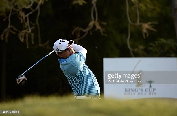 Prayad Marksaeng of Thailand during the second round of the 2014 King Cup Golf Hua Hin at Black Mountain Golf Club on January 17 2014 in Hua Hin...