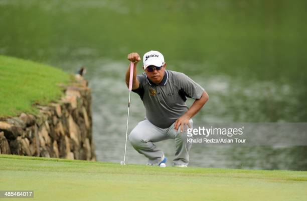Prayad Marksaeng of Thailand in action of Thailand in action during round two of the Maybank Malaysian Open at Kuala Lumpur Golf Country Club on...