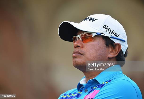 Prayad Marksaeng of Thailand looks on Open Golf at Delhi Golf Club on February 19 2015 in New Delhi India