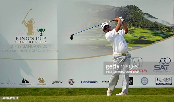 Prayad Marksaeng of Thailand pictured during Round 3 of the 2014 King Cup Golf Hua Hin at Black Mountain Golf Club on January 18 2014 in Hua Hin...