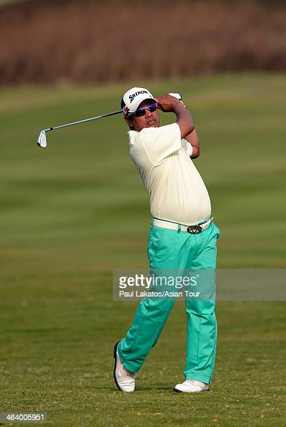Prayad Marksaeng of Thailand pictured during Round 4 of the 2014 King Cup Golf Hua Hin at Black Mountain Golf Club on January 19 2014 in Hua Hin...