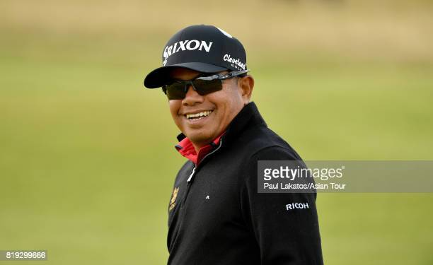 Prayad Marksaeng of Thailand pictured on hole 2 during the first round of the 146th Open Championship at Royal Birkdale on July 20 2017 in Southport...