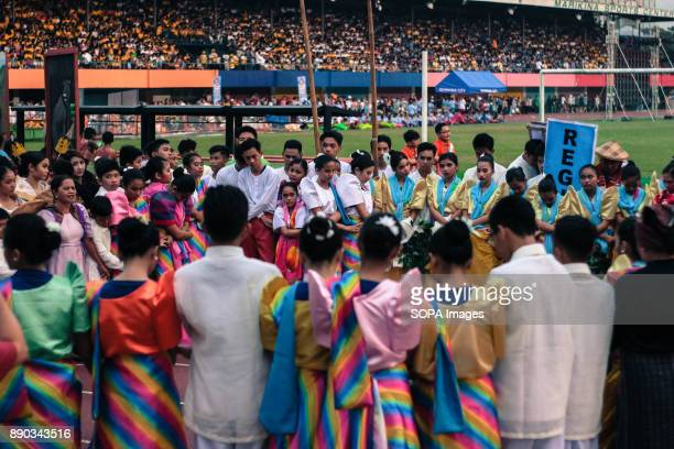 PHILIPPINES MARIKINA NCR PHILIPPINES Prayer before the performance is one of the culture of Filipinos showing their fearfaith and respect in GodThe...