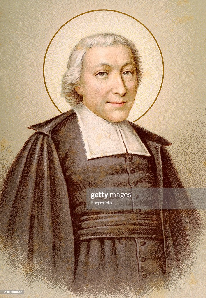 a prayer card illustration featuring jean baptiste de la salle pictures getty images