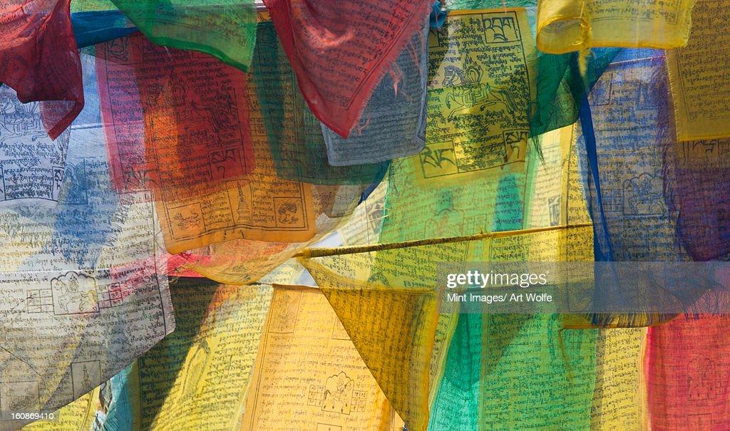Prayer flags, Bhutan : Stock Photo