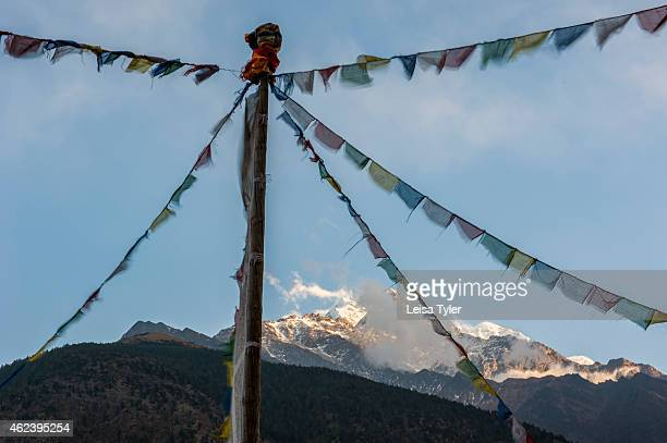 Prayer flags in Marpha on the Annapurna Circuit It's considered one of the most diverse trekking trails in the world the Annapurna circuit passes an...