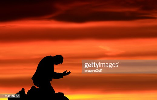 Prayer for Salvation and Forgiveness : Stock Photo